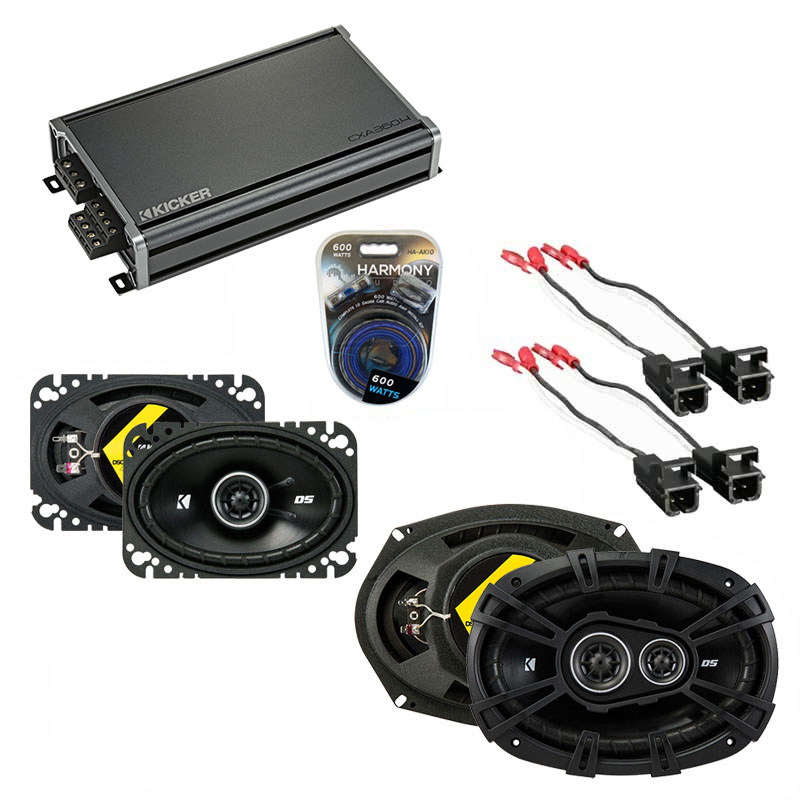 Compatible with Oldsmobile Cutlass 1997-1999 Speaker Replacement Kicker DS Series & CXA3004 Amp