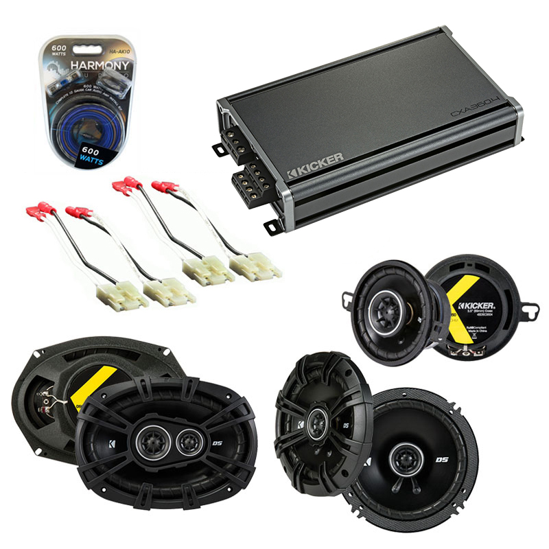 Compatible with Oldsmobile Ninety-Eight 1986-1987 Speaker Replacement Kicker DS & CXA300.4 Amp