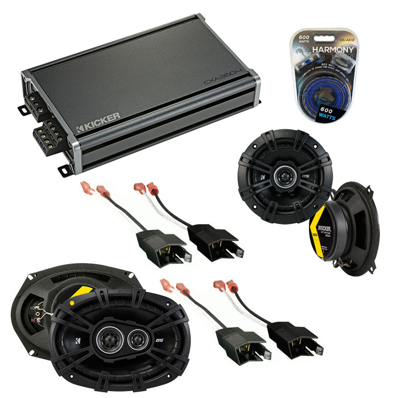 Compatible with Plymouth Turismo 1983-1987 Speaker Replacement Kicker DSC5 DSC693 & CXA3004 Amp