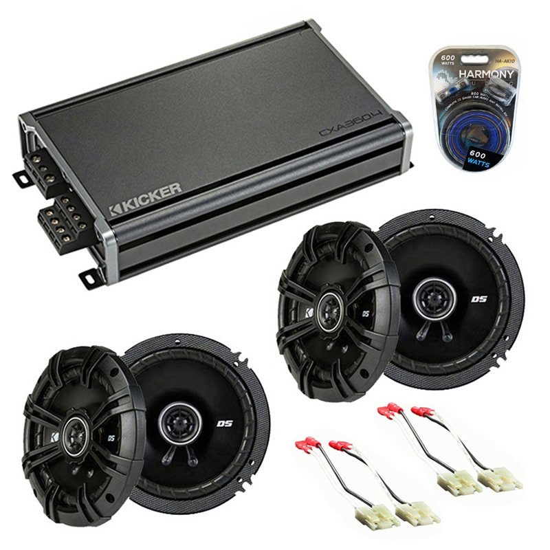 Compatible with Saturn SL1/SL2/Sport Coupe 1991-1999 Speaker Replacement Kicker DS & CXA3004 Amp