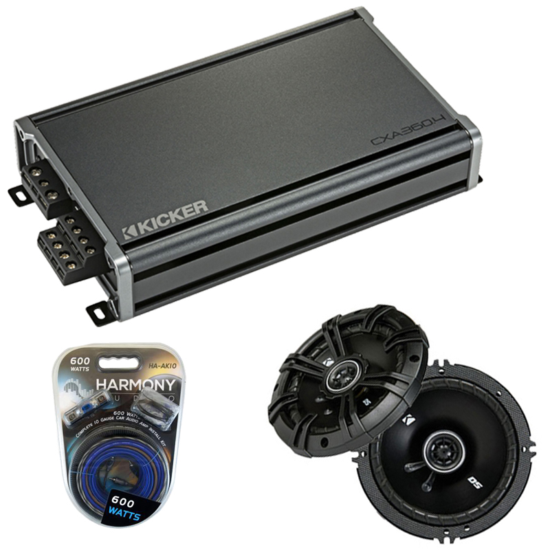 Compatible with Smart Fortwo 2008-2010 Factory Speaker Replacement Kicker DSC65 & CXA360.4