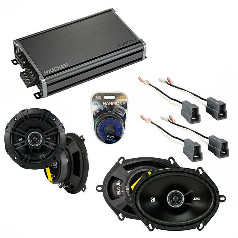 Compatible with Toyota Cressida: Luxury 82-84 Speaker Replacement Kicker DS Series & CXA3004 Amp