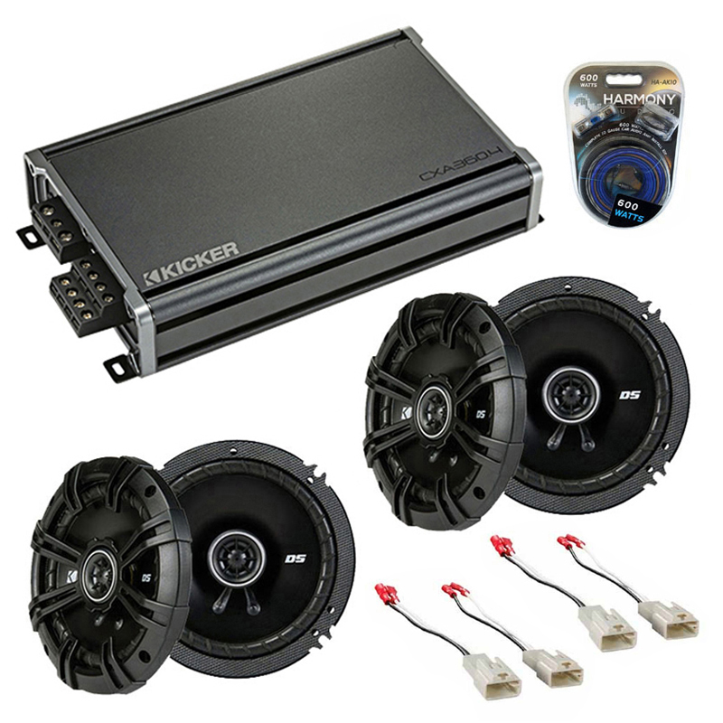 Toyota Matrix 2005-2008 Factory Speaker Upgrade Kicker (2) DSC65 & CXA300.4 Amp