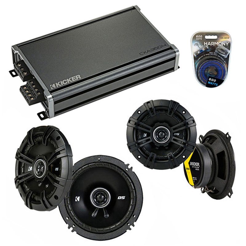 Toyota Matrix 2009-2013 Factory Speaker Upgrade Kicker DSC65 DSC5 & CXA300.4 Amp