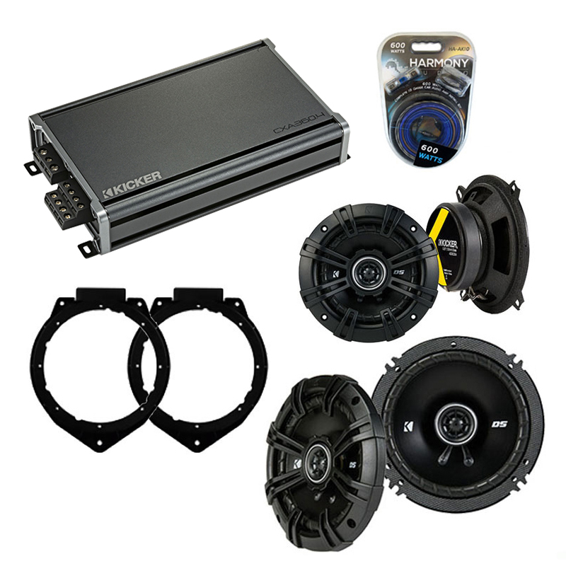 Compatible with Chevy Avalanche 2007-2013 Speaker Replacement Kicker DSC65 DSC5 & CXA300.4 Amp