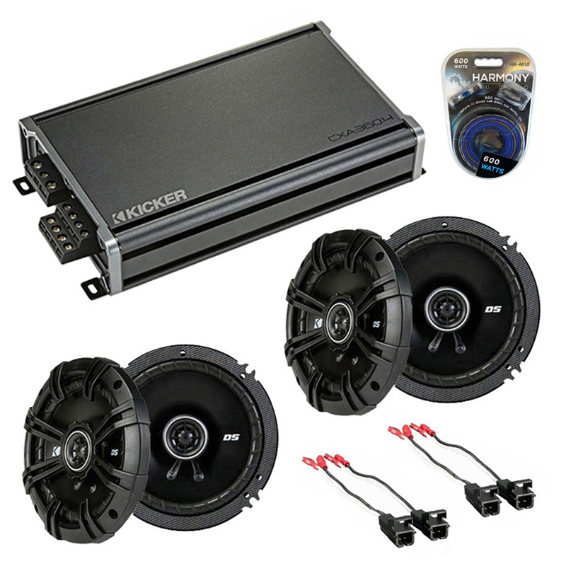 Compatible with Chevy Colorado 2004-2012 Factory Speaker Replacement Kicker (2) DSC65 & CXA3004