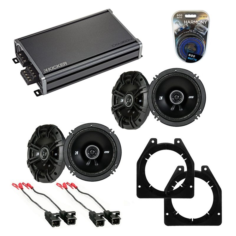 Compatible with Chevy Express 2003-2007 Factory Speaker Replacement Kicker (2) DSC65 & CXA300.4