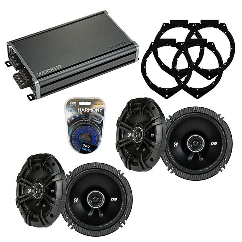 Compatible with Chevy Express 2008-2014 Speaker Replacement Kicker (2) DSC65 & CXA300.4 Amp