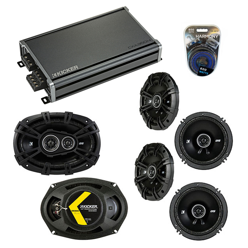 Compatible with Acura TSX 2004-2014 Factory Speaker Replacement Kicker (2)DSC65 DSC693 & CXA360.4