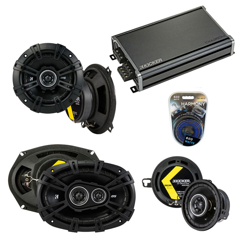 Compatible with Chrysler Concorde 1993-1997 Speaker Replacement Kicker DS Package & CXA3004 Amp