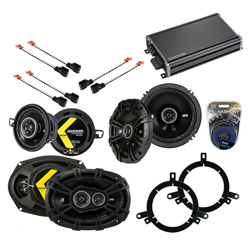 Compatible with Chrysler Concorde 1998-2001 Speaker Replacement Kicker DS Package & CXA3004 Amp