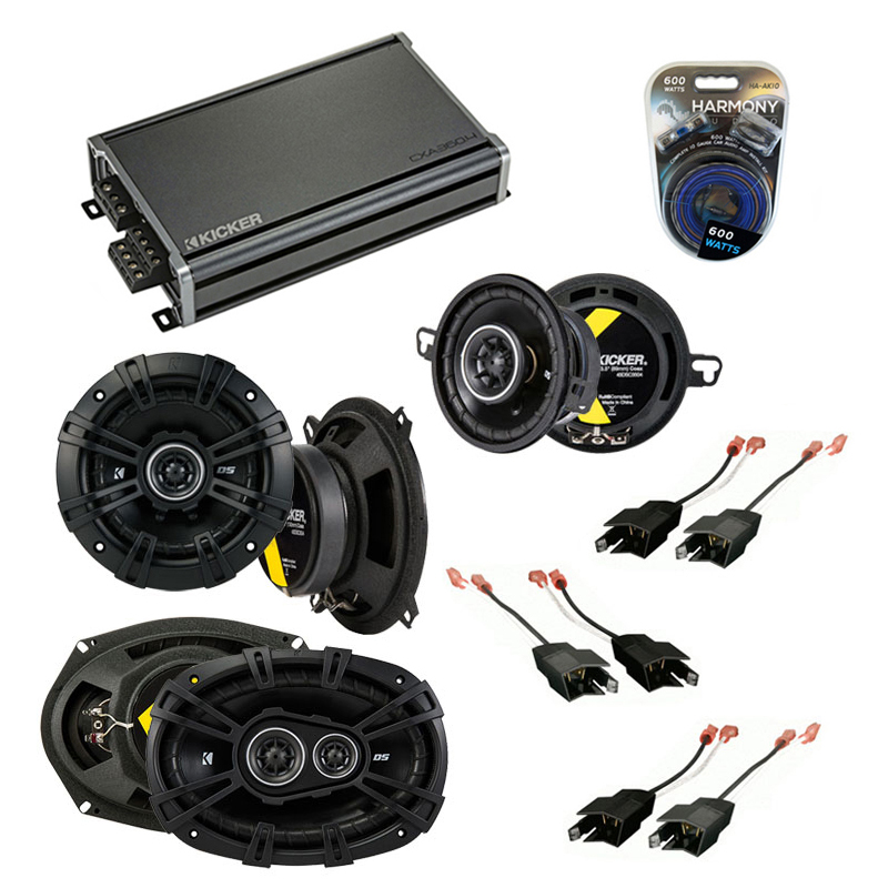 Compatible with Chrysler Yorker 84-93 Speaker Replacement Kicker DS Package & CXA300.4 Amp