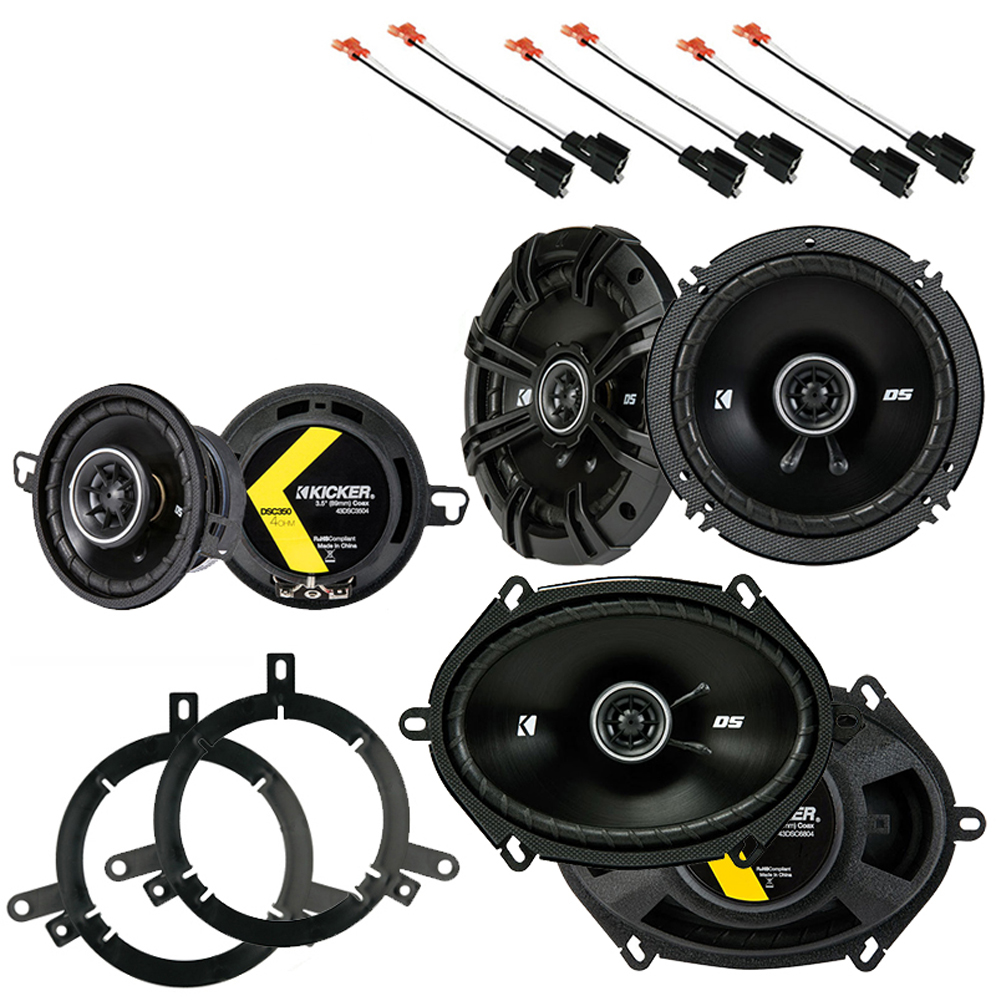 Chrysler PT Cruiser 2001-2005 OEM Speaker Upgrade Kicker DS Series Package New