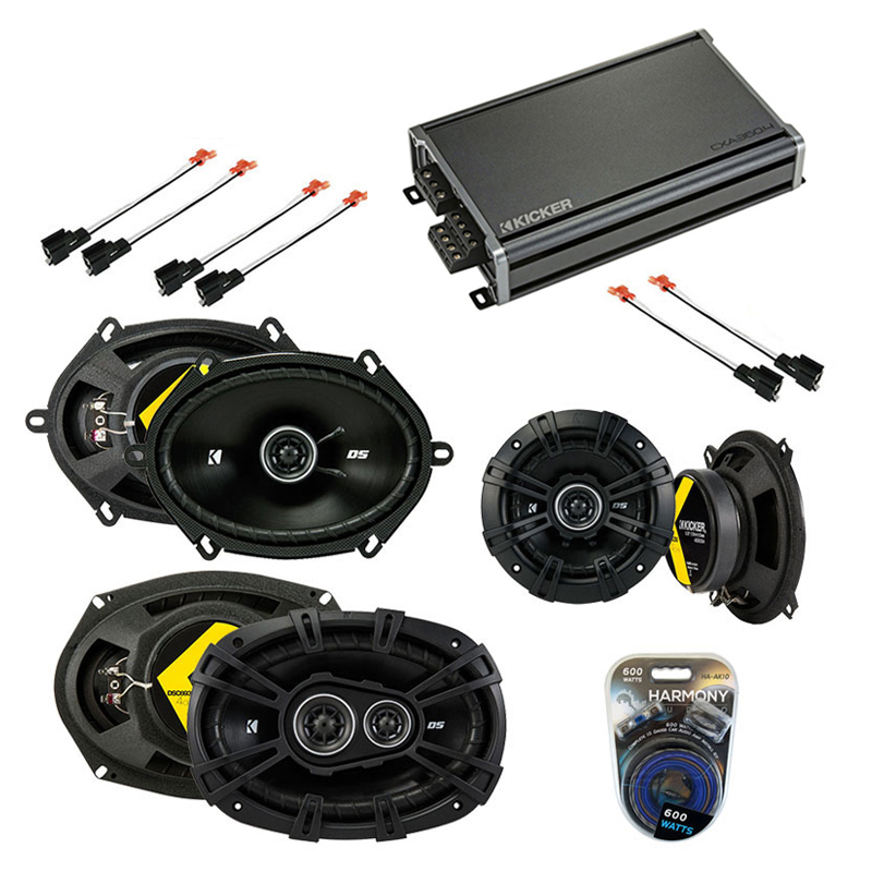 Compatible with Chrysler Town & Country 02-07 Speaker Replacement Kicker DS Pack w/ CXA3004 Amp
