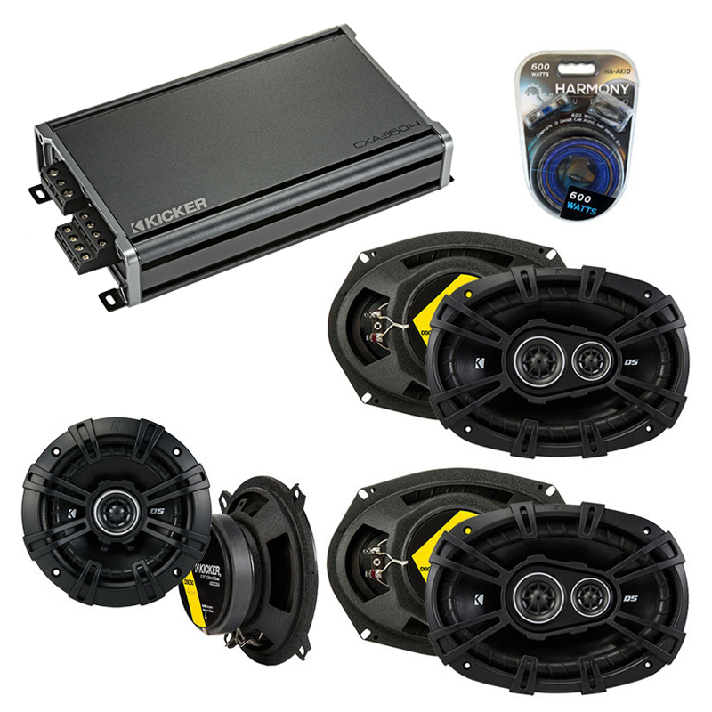 Compatible with Chrysler Town & Country 08-14 Speaker Replacement Kicker DS Pack w/ CXA360.4 Amp