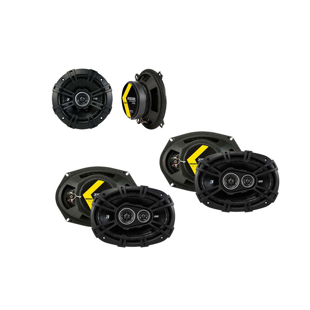 Kicker Bundle Compatible with 2008-2014 Chrysler Town & Country 43DSC69304 43DSC504 New Factory Speaker Replacement Package