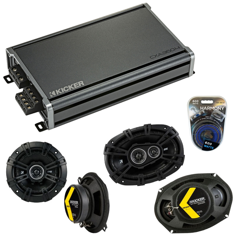 Compatible with Dodge Challenger 2008-2014 Speaker Replacement Kicker DSC693 DSC5 & CXA3004 Amp