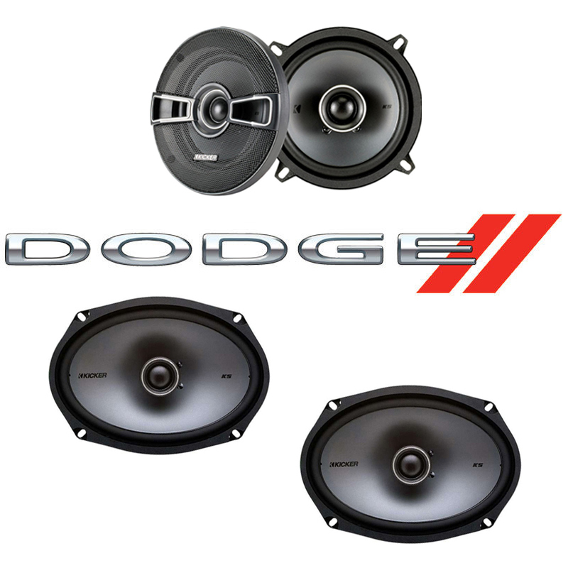 Dodge Charger 1974-1983 Factory Speaker Upgrade Kicker KSC5 KSC69 Package New