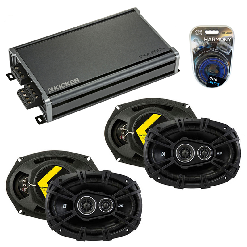 Dodge Charger 2005-2010 Factory Speaker Upgrade Kicker (2) DSC693 & CXA300.4 Amp