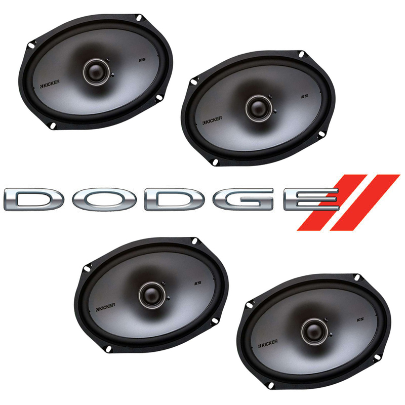 Dodge Charger 2005-2010 Factory Speaker Upgrade Kicker (2) KSC69 Package New