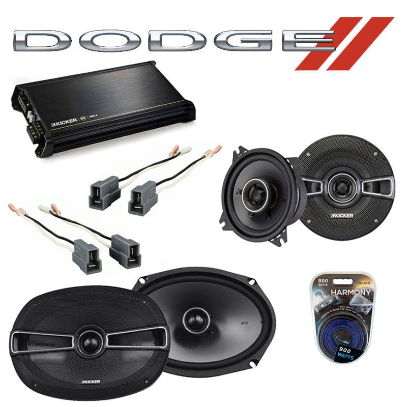 Dodge Colt 1993-1994 Factory Speaker Upgrade Kicker KSC4 KSC69 & DX400.4 Amp