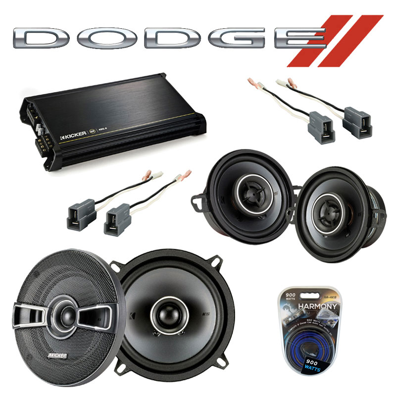 Dodge Colt Vista 1987-1991 OEM Speaker Upgrade Kicker KSC35 KSC5 & DX400.4 Amp
