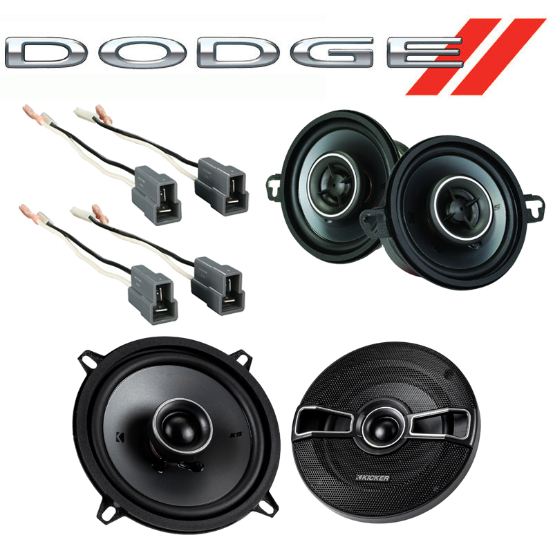 Dodge Colt Vista 1987-1991 Factory Speaker Upgrade Kicker KSC35 KSC5 Package New