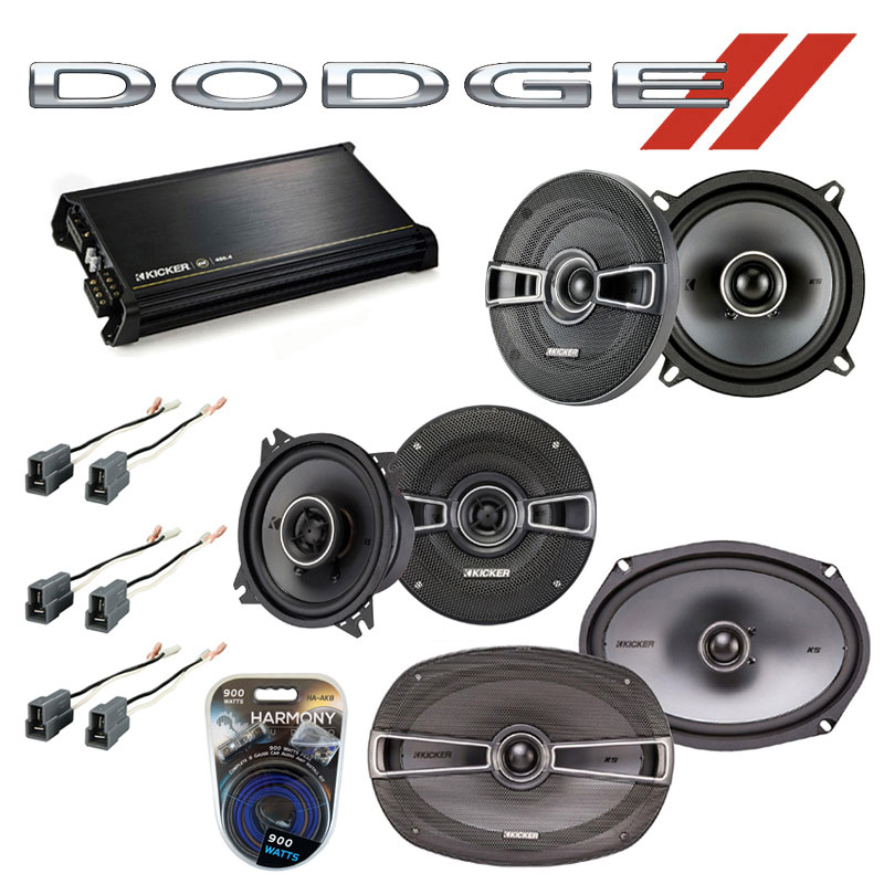 Dodge Colt Vista 92-94 OEM Speaker Upgrade Kicker KSC5 KSC4 KSC69 & DX400.4 Amp