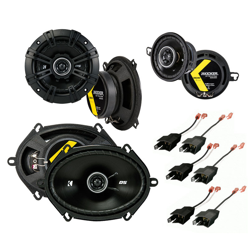 Dodge Daytona 1984-1993 Factory Speaker Upgrade Kicker DS Series Package New
