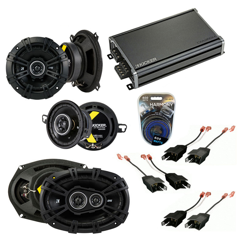 Dodge Dynasty 1988-1993 Factory Speaker Upgrade Kicker DS Package & CXA300.4 Amp