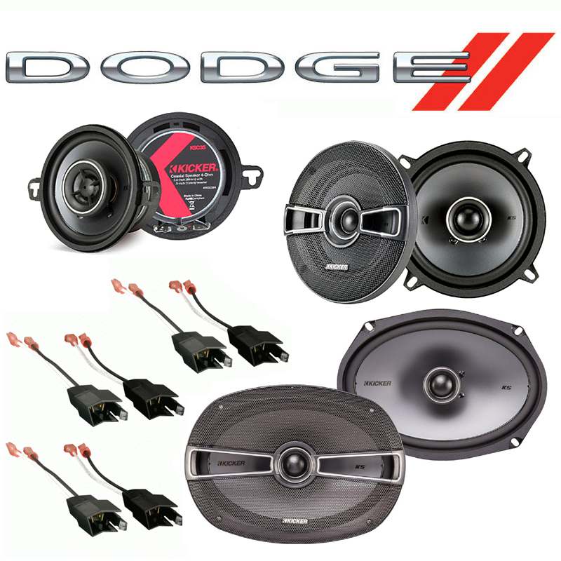 Dodge Dynasty 1988-1993 Factory Speaker Replacement Kicker KS Series Package New