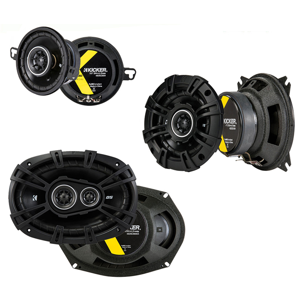 Kicker Compatible With 1993-97 Dodge Intrepid DSC404 DSC3504 DSC69304 New Factory Speaker Replacement DS Series Upgrade Package