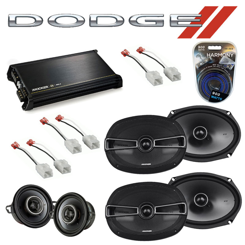 Dodge Magnum 2005-2007 Factory Speaker Upgrade Kicker KSC69 KSC35 & DX400.4 Amp