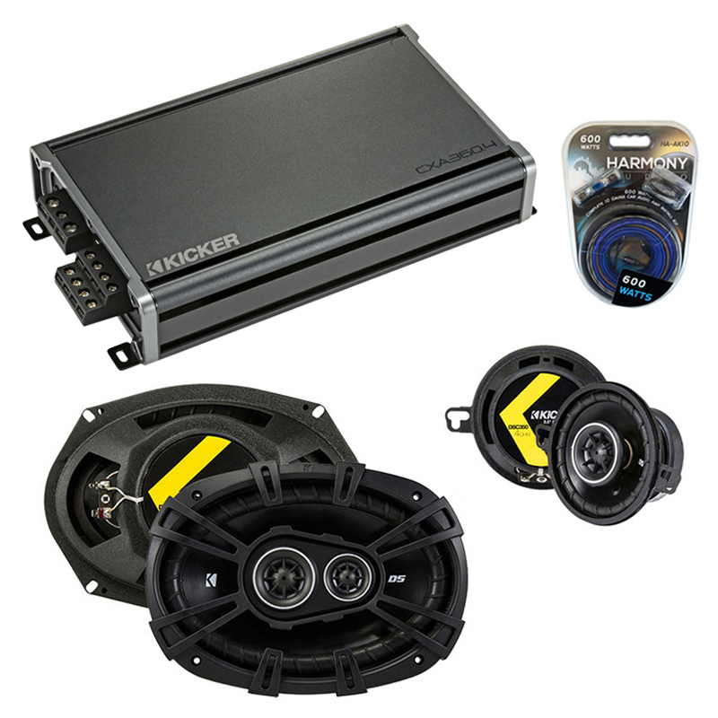Dodge Mirada 1979-1982 Factory Speaker Upgrade Kicker DSC35 DSC693 & CXA300.4 Amp