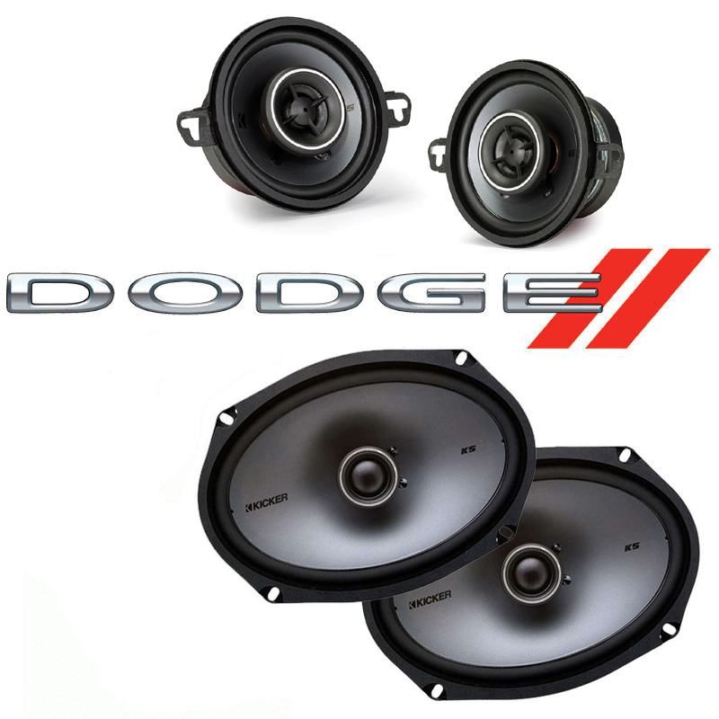 Dodge Mirada 1983-1983 Factory Speaker Upgrade Kicker KSC35 KSC69 Package New