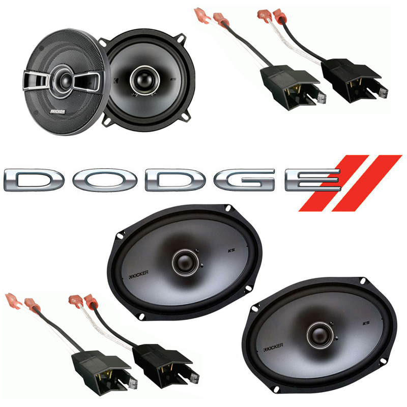 Dodge Ram Truck 1984-1993 Factory Speaker Upgrade Kicker KSC69 KSC5 Package New