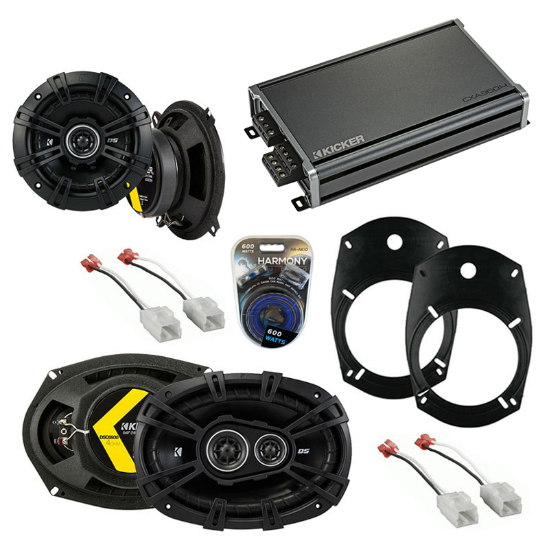 Dodge Ram Truck 2500/3500 2002 Speaker Upgrade Kicker DS Package & CXA300.4 Amp