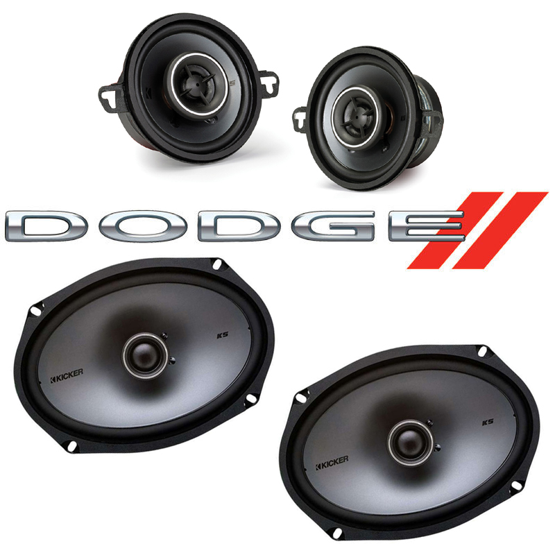 Dodge St. Regis 1979-1981 Factory Speaker Upgrade Kicker KSC35 KSC69 Package New