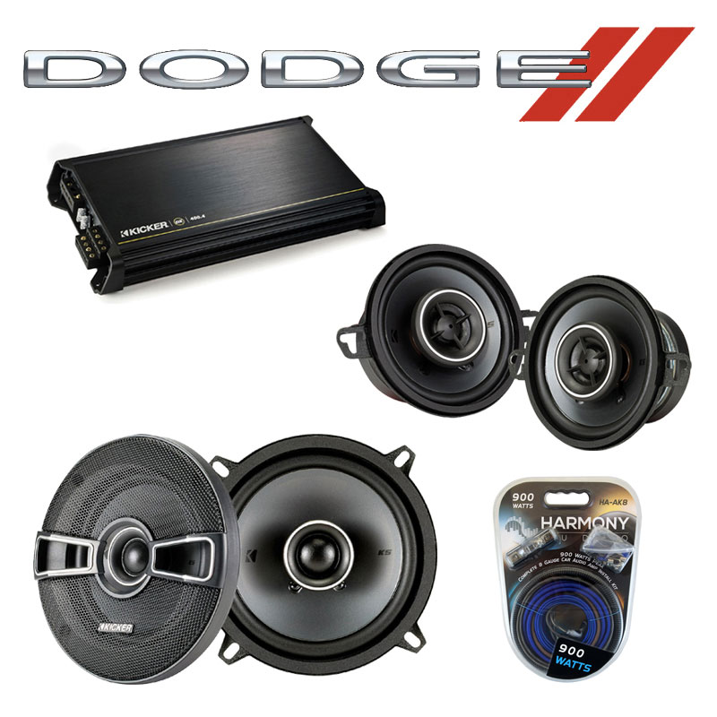 Dodge Van (Full Size) 78-83 OEM Speaker Upgrade Kicker KSC5 KSC35 & DX400.4 Amp