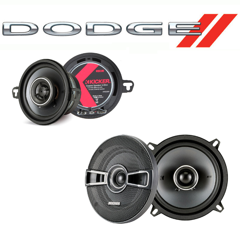 Dodge Van (Full Size) 1978-1983 Factory Speaker Upgrade Kicker KSC5 KSC35 New