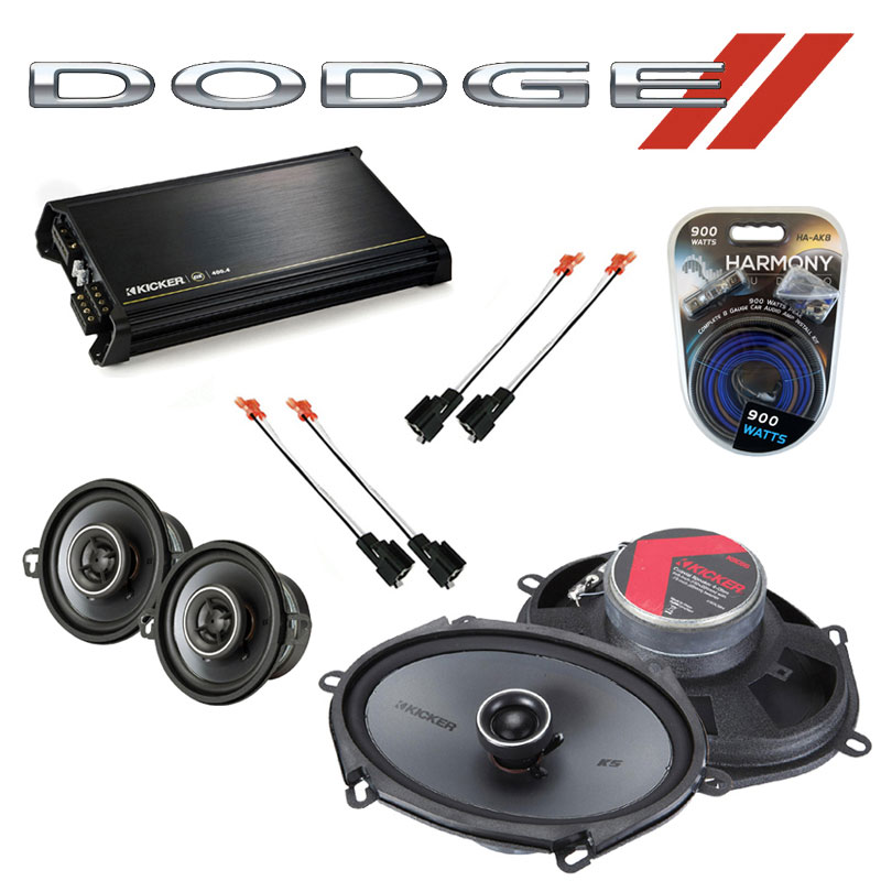 Dodge Van (Full Size) 1990-1997 Speaker Upgrade Kicker KSC68 KSC35 & DX400.4 Amp