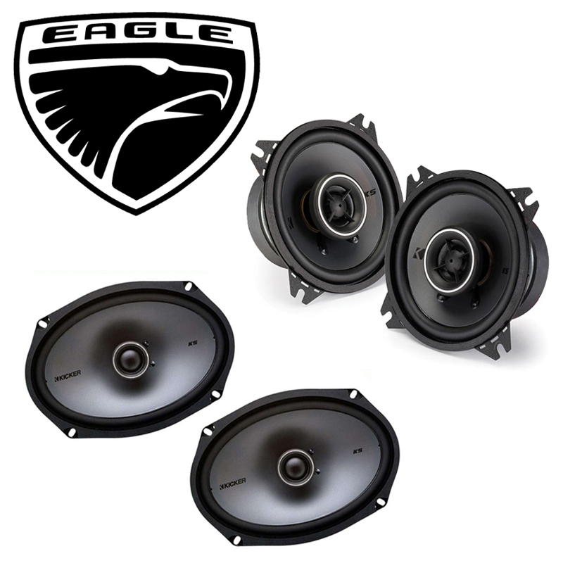 Eagle Summit 1992-1995 Factory Speaker Upgrade Kicker KSC4 KSC69 Package New