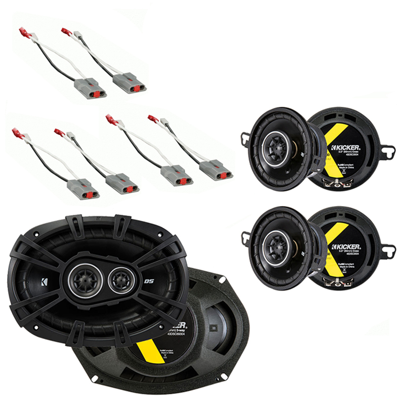 Kicker Compatible With 1986-97 Ford Aerosar (2) DSC35 DSC693 New OEM Speaker Replacement Upgrade Package