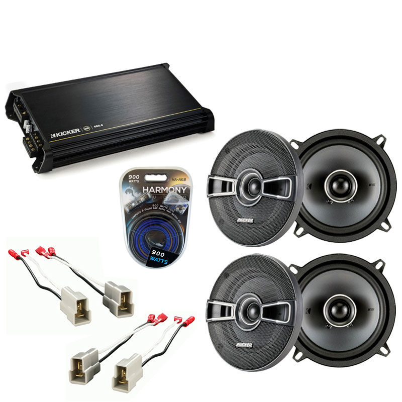 Ford Aspire 1995-1997 Factory Speaker Replacement Kicker (2) KSC5 & DX400.4 Amp