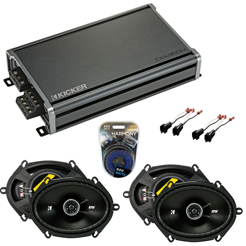 Compatible with Ford Crown Victoria 98-11 Speaker Replacement Kicker DSC68 DSC693 & CXA360.4 Amp