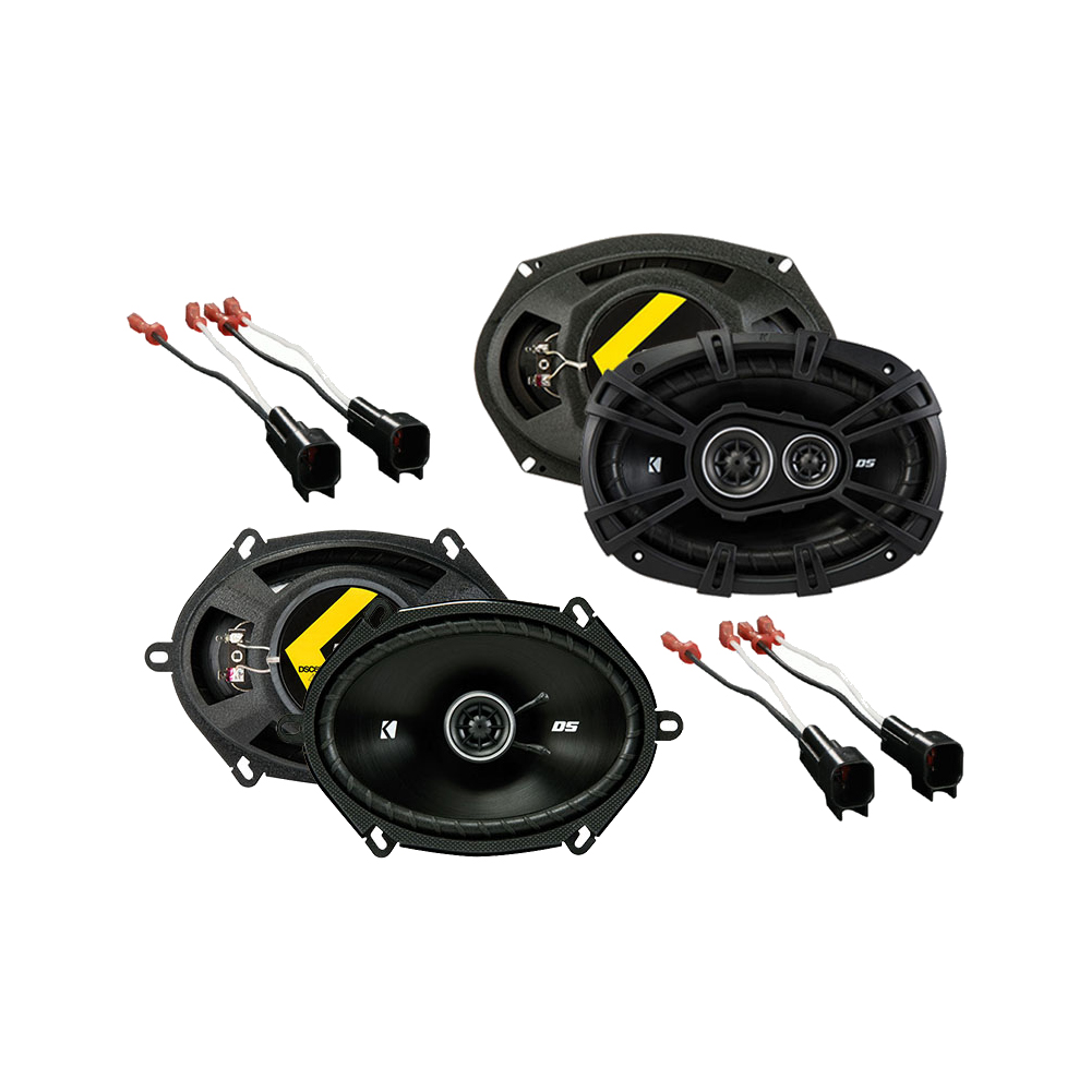 Kicker Bundle Compatible with 1998-2011 Ford Crown Victoria 43DSC6804 43DSC69304 New Factory Speaker Replacment Upgrade Package With HA-725600 Speaker Replacement Harness