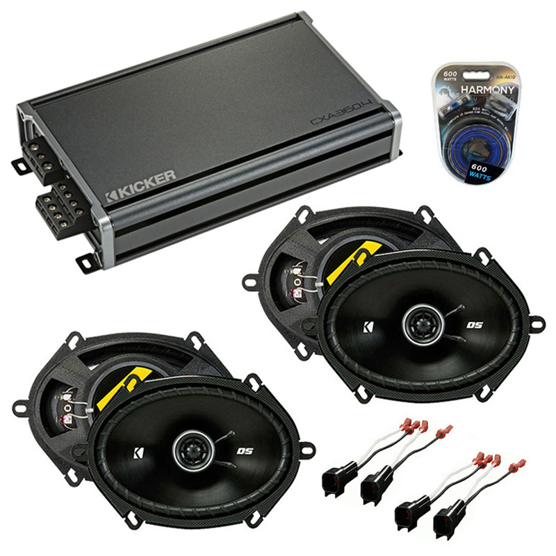 Compatible with Ford Edge 2007-2010 Factory Speaker Replacement Kicker (2) DSC68 & CXA300.4
