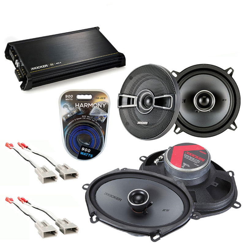 Ford Escort/ZX2 1997-2004 OEM Speaker Upgrade Kicker KSC65 KSC68 & DX400.4 Amp
