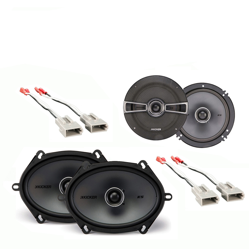 Ford Escort/ZX2 1997-2004 Factory Speaker Upgrade Kicker KSC65 KSC68 Package New