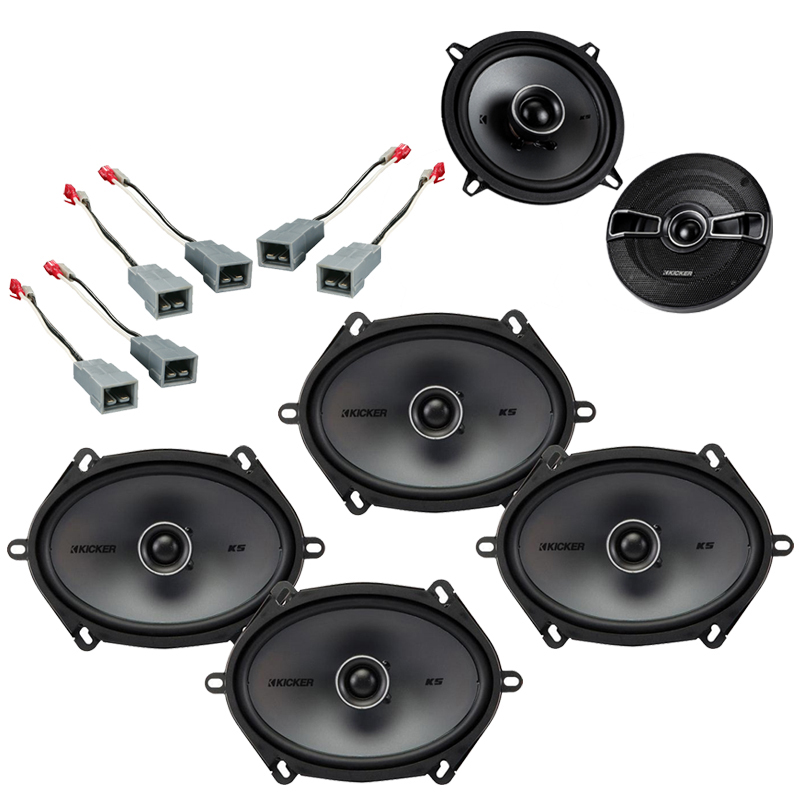 Ford Escort 1985-1990 Factory Speaker Replacement Kicker KSC4 KSC68 Package New